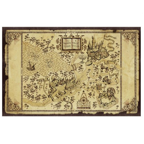 Harry Potter Hogwarts Map Canvas Painting – Currently unavailable.