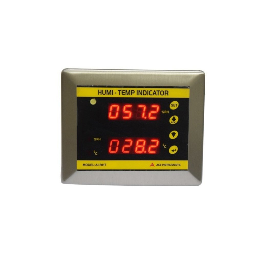 Clean Room Temperature Humidity Indicator along with Calibration Certificate +12 Months Warranty