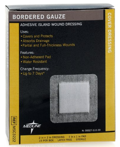Medline MSC3222Z Sterile Bordered Gauze, 2