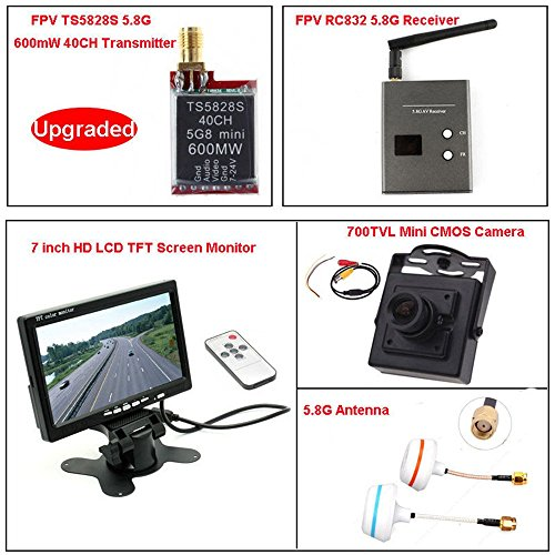 "FPV Transmitter & Reciever 5 Sets AV 7"" HD LCD Monitor + Min"