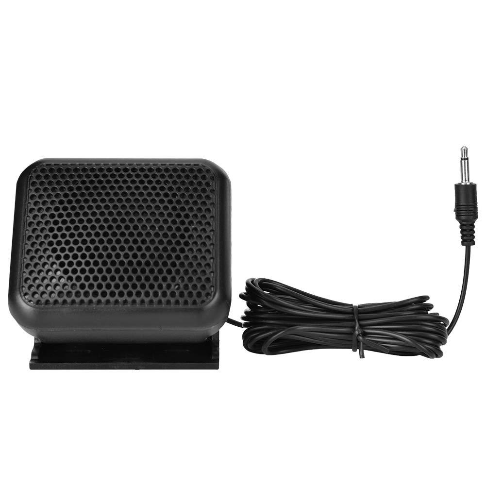Portable Mini Speakers, 3W Speaker Black External Mini Speaker Portable Car Radio High Fidelity Sound Quality by Dioche