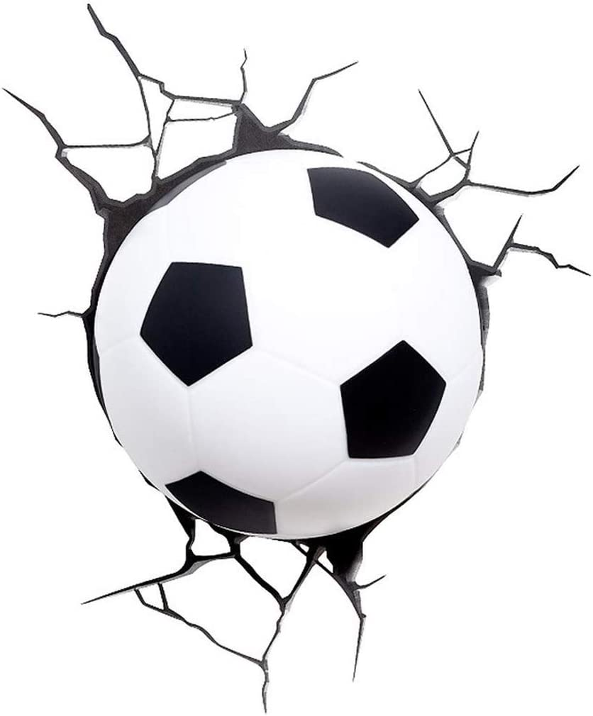 Luz De Balón De Fútbol De Plástico 3D - Blanco, Dormitorio De Sala ...
