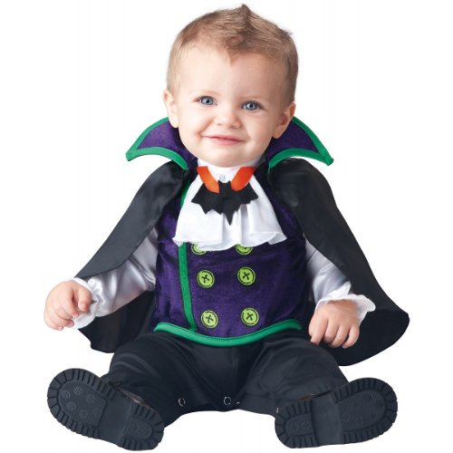 InCharacter Baby Boy's Count Cutie Vampire Costume, Black/Purple, Medium for $<!--$17.51-->