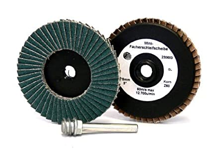 Sanding disc Mini serrated washer D 75mm Zircon Mini serrated washer Grain 40-120 corn 120