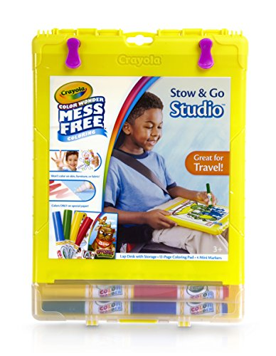 Crayola Color Wonder Mess-Free Coloring, No Mess Markers, Travel Art Desk, (Color Wonder Activity Kit)