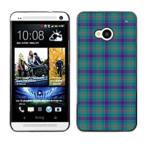 ZECASE Funda Carcasa Tapa Case Cover Para HTC One M7 No.0004221