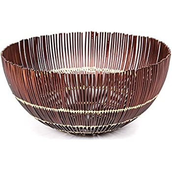 Amazon Com Red Fig Home Decorative Metal Wire Fruit Bowl With Gold