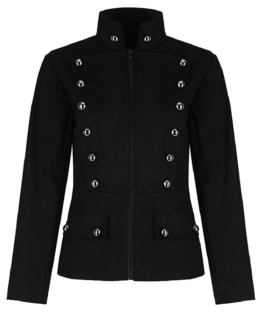 Womens Military Officer Punk Fitted Parade Jacket