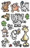 Avery Zweckform 53193 Kinder Sticker, Tiere, 42 Aufkleber