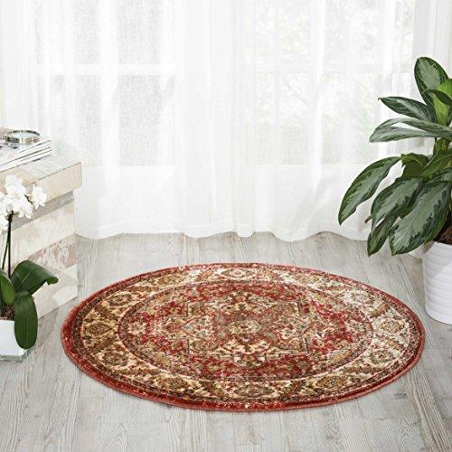 Brick Red Oriental Rug - Nourison Delano DEL05 Traditional Oriental Persian Brick (Red) Area Rug,  3'4