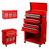 #9: Tool Box, Portable and Storage System Tool Chest Cabinet Sliding Drawers Rolling Toolbox Organizer, Red