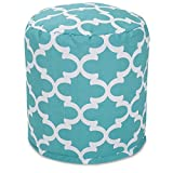 Majestic Home Goods Trellis Pouf, Small, Teal