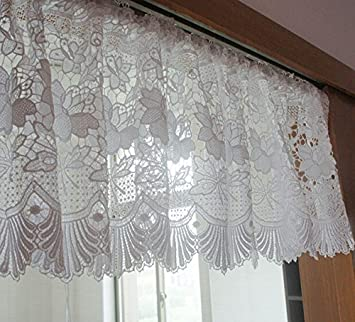 FADFAY Home TextileDelicate White Lace CurtainsDesigner Hollow Out Short CurtainsModern