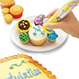Yakamoz Electronic Cake Decorating Icing Writing Pen Battery Powered Magic Cupcake Cookie Cake Decoration Pastry Decorating Set Kit Tool