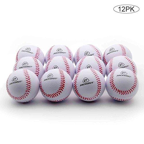 Soft Baseballs, PACKGOUT Foam Baseballs for Kids Teenager Players Training Balls (6pk/8pk/12pk), Reduced Impact …