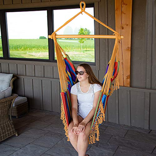 Vivere Brazilian Hammock Chair, Tropical