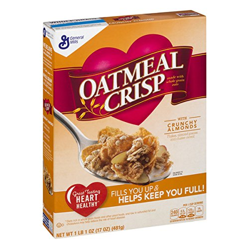 Oatmeal Crisp with Crunchy Almond Cereal, 17 Ounce (Pack of 6)