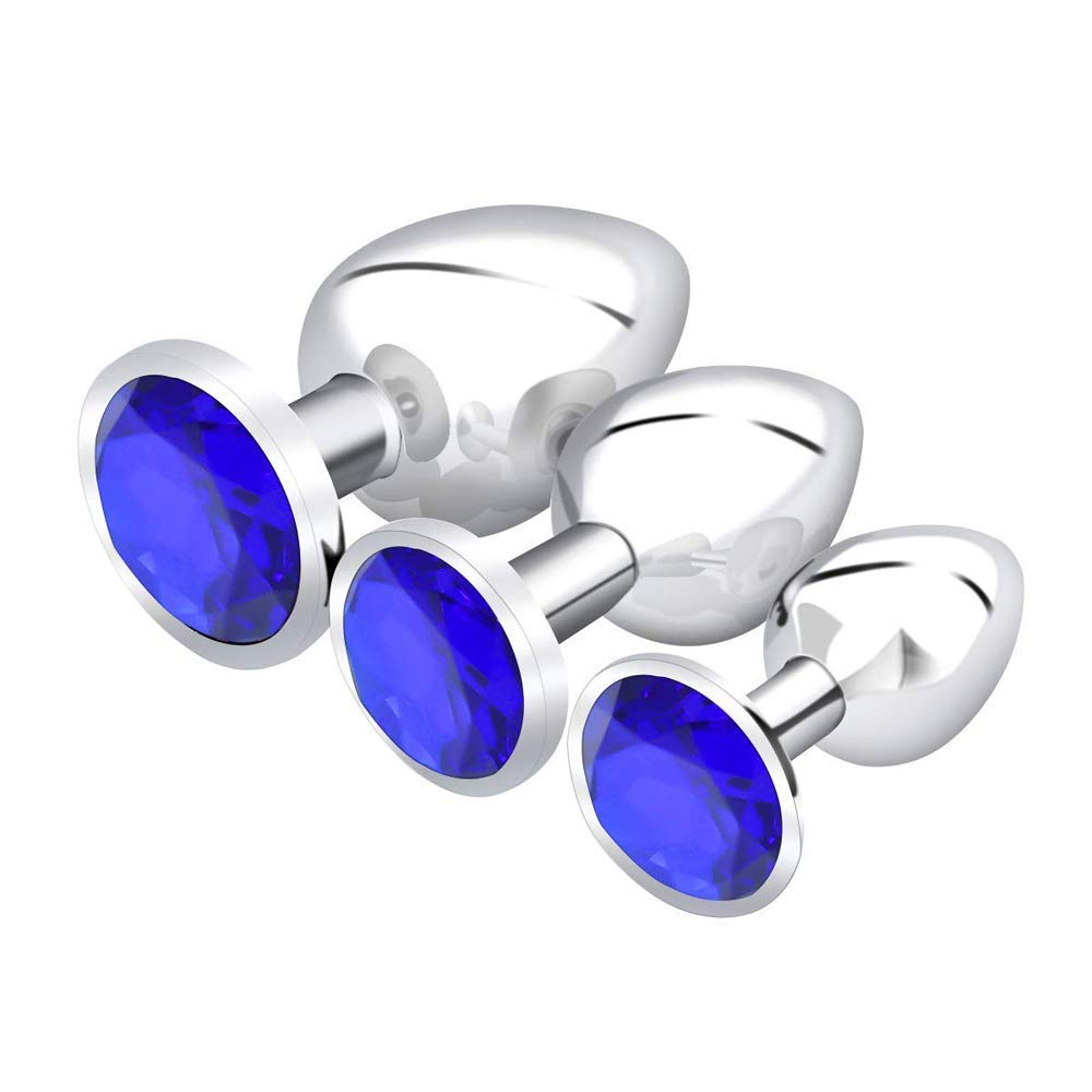 3 PCS Blue Att-rac-tive Th-ing - Never Kne-w That It Could M-EAN So Much with B-ütt an-âl Pl-ùg T-ö-ys for Wömén Bêginnêrs Mên - Blue