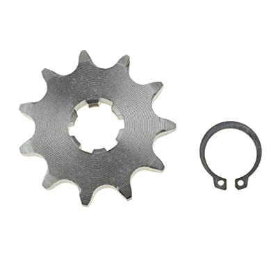 WOOSTAR Front Sprocket 428-11T 17mm for Motorcycle: Automotive