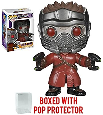 Funko Pop! Marvel: Guardians of the Galaxy Star Lord Vinyl Figure (Bundled with Pop BOX PROTECTOR CASE)
