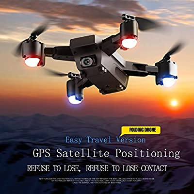 SMRC Foldable FPV RC Drone with Adjustable Wide-Angle 1080P HD Camera for Adults RC Helicopter Smart Follow Flying Around 3D VR Mode Auto Return