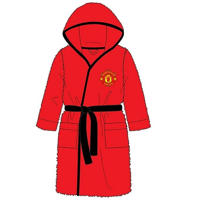 Manchester United FC - Batín Oficial para niño - Forro Polar: Amazon.es: Ropa y accesorios