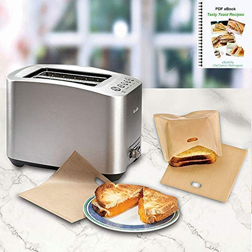 ekSel Non Stick Reusable Toaster Bags, Pack of 3 by ekSel (Image #2)