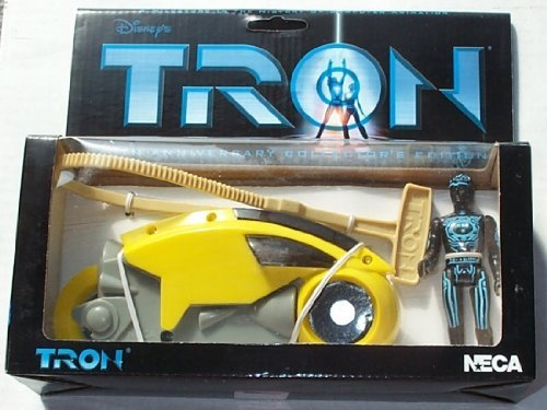 Tron > Yellow Lightcycle with Figure Vehicle