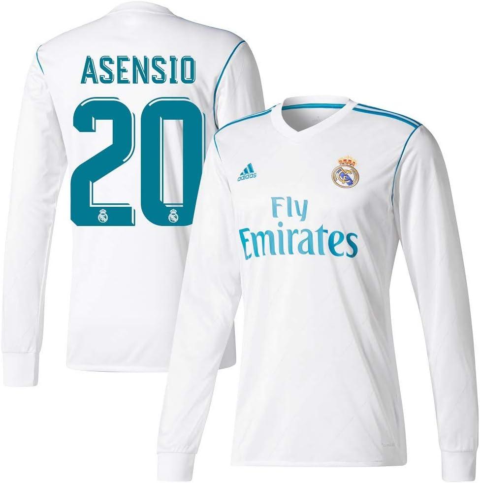 Player Print - adidas Performance Real Madrid Asensio n.º 20 - Camiseta de primera equipación del Real Madrid 2017-2018, diseño de Asensio n.º 20, hombre, blanco: Amazon.es: Deportes y aire libre