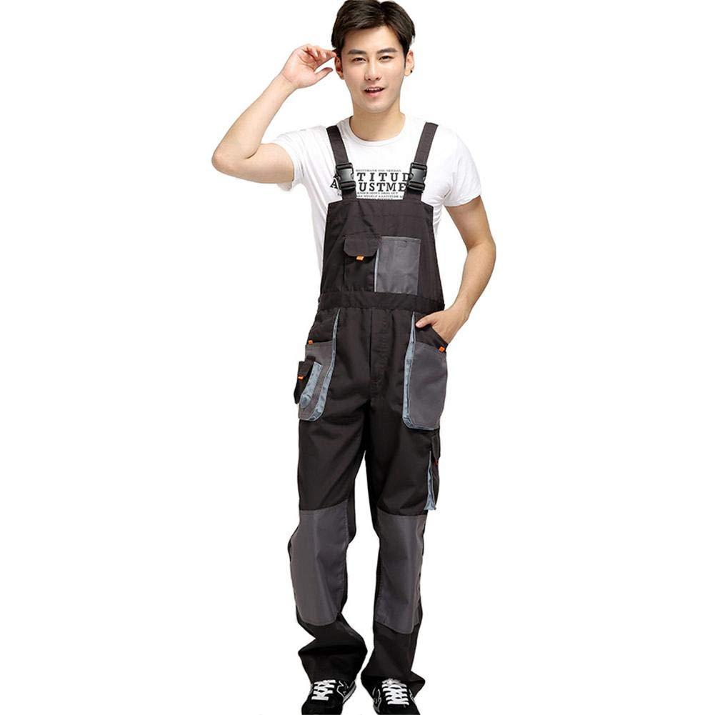 Grey Multi Pocket Work Clothes Suit Labor Uniforms