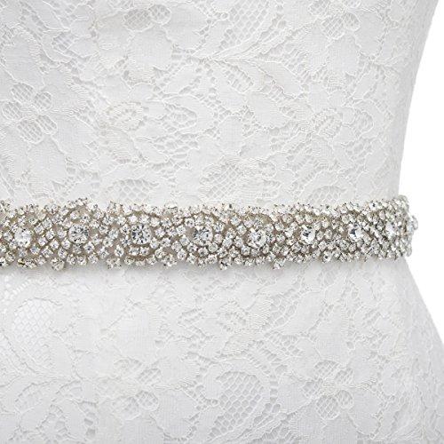 Amazon.com: Remedios Handmade Dazzling Rhinestone Wedding Party Prom Sash Bridal Belt For Women,Ivory: Beauty