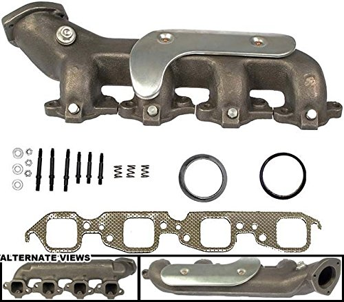 (APDTY 785378 Exhaust Manifold Cast Iron Assembly Fits Left 454 7.4L Big Block Engine On Specific Models Listed (Passenger-Side; Heat Shield & Gaskets; Replaces GM 12551445, 10045731, 14103135))
