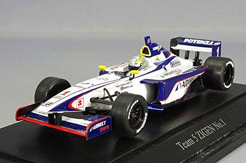 1/43 フォーミュラニッポン 2004 チーム 5ZIGEN ADIRECT #1(ホワイト×ブルー) 「RACING CAR COLLECTION」 43658