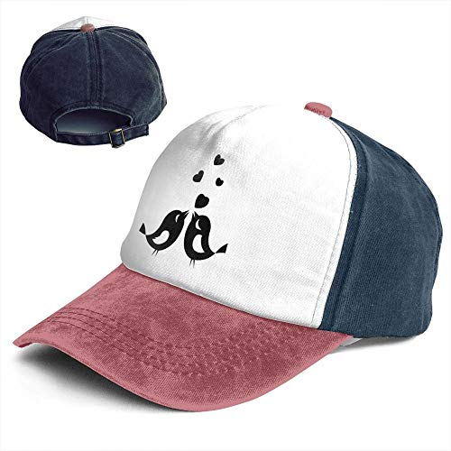 Fashion Vintage Hat Love Birds Clipart Black White Adjustable Dad Hat Baseball Cowboy Cap