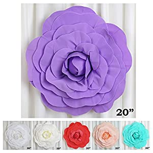 "Efavormart 20"" Real Touch Artificial Foam 3D Craft Rose for Wall Backdrop Decor DIY Arts 42"