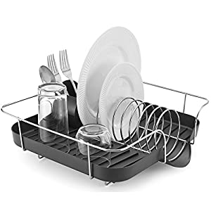 Amazon Com Polder Kth 660 Spring Dish Rack With Utensil