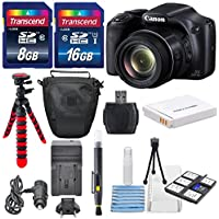 Canon PowerShot SX530 HS - Wi-Fi Enabled Digital Camera with deluxe accessory bundle including 24GB SDHC memory card lens cleaning kit + Extra Battery & AC/DC Turbo Travel Charger. Noticeable Review Image