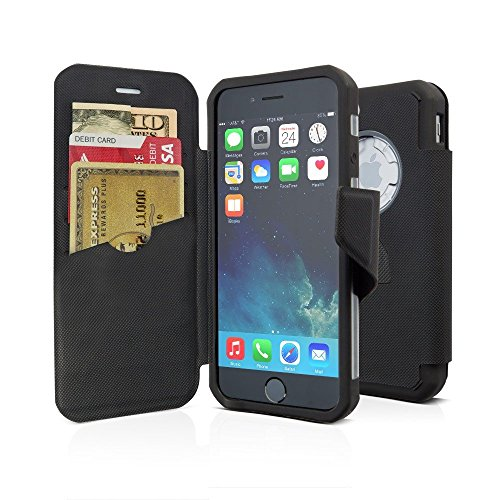 Rokform iPhone 6/6s Folio Wallet Case and universal magnet car mount (Black) by Rokform