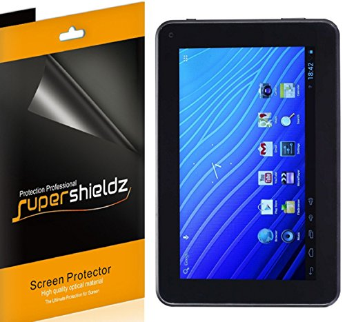 [3-Pack] Supershieldz- Anti-Bubble High Definition Clear Screen Protector for Double Power DOPO 7 INCH Tablet (EM63) + Lifetime Replacements Warranty [3-PACK] - Retail Packaging