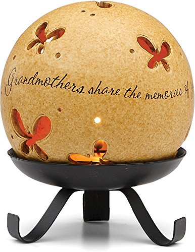 Comfort Candles Grandmother by Pavilion Tea Light Candle and Stand, 5-1/2-Inch, Butterfly Pierced Round