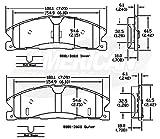#1: American Black ABD1611M Semi-metallic Front Disc Brake Pads Set