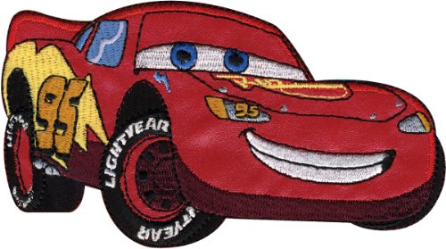 Iron Disney Cars - Disney Cars Hand Stitched Applique-McQueen 5-1/2