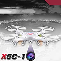 Cewaal X5C-1 4CH 6-Axis RC Quadcopter Drone Helicopters UAV UFO HD +Camera 3 battery