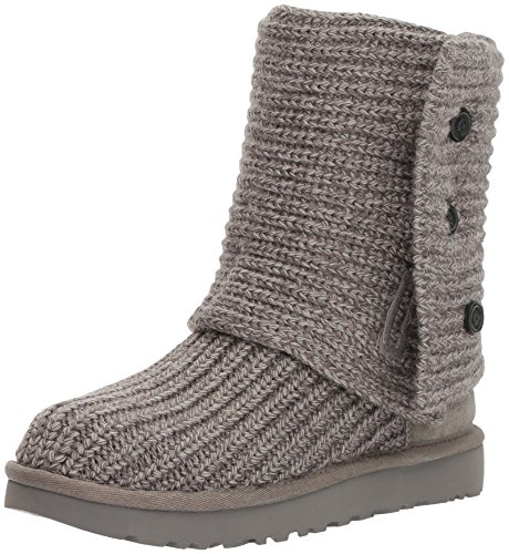 (UGG Women's Classic Cardy Winter Boot, Grey, 8 B US)
