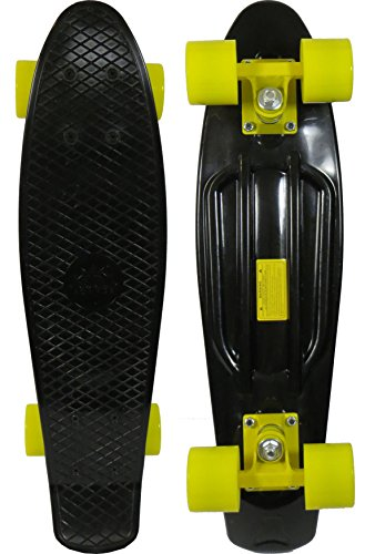 Skateboard - Black Deck/Yellow Wheels/Yellow Trucks