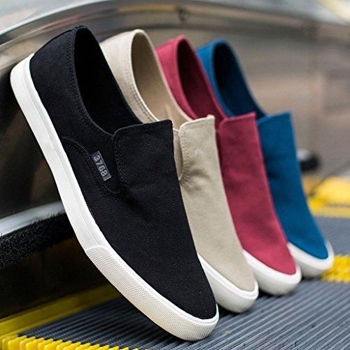 Cachi coreana estate di LI giovani scarpe deodorante di maschile tela Vecchie scarpe shoes scarpe versione XIANG casual pigri SHOP da panno SHI canvas traspirante Pechino uomo wFq4w1f