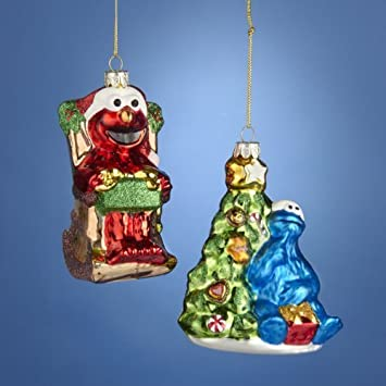 Image Unavailable - Amazon.com: Kurt Adler Painted Glass Cookie Monster And Elmo