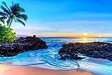 12x18 Print, Tropical Beach Sunset, Wall Art Decor, Makena Cove, Maui Hawaii