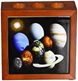 Rikki Knight Solar System Planets Design  Inch Tile Wooden Tile Pen Holder