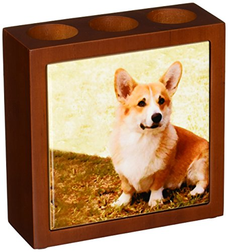 - 3dRose LLC Pembroke Welsh Corgi 5-Inch Tile Pen Holder